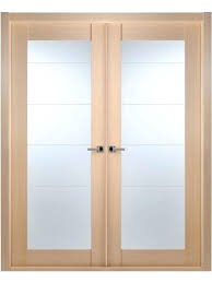 interior double doors with glass contemporary bleached oak interior double door lined frosted glass interior double