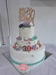 Jual Kue Ulang Tahun Wedding Cake Anniversary Cake 3 Tingkat Kab