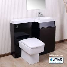 black bathroom white basin vanity unit wc toilet cabinet suite right hand contemporary home decor