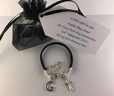 boys leather bracelet 1st holy munion confirmation personalised gift bag