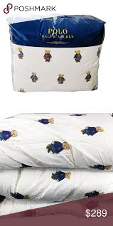 polo ralph lauren girl bear comforter