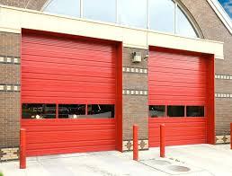red garage door windows ribbed panel signal red windows ribbed panel signal red garage door sensor