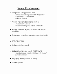 Nanny Job Description Resume Elegant Resumes Housekeeping Duties And