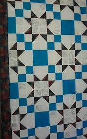WEDDING SIGNATURE QUILT | napquilting & Both quilts contain the same multi-color fabric. The beautiful bride's quilt  was made with turquoise fabrics…her favorite color. The handsome groom's  quilt ... Adamdwight.com