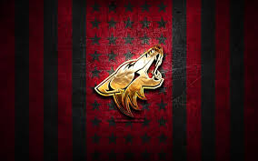 Between the arizona connection and the armstrong connection, it wouldn't be shocking to see van ryn turn the blues' defensive coaching position over to. Download Wallpapers Arizona Coyotes Flag Nhl Red Black Metal Background American Hockey Team Arizona Coyotes Logo Usa Hockey Golden Logo Arizona Coyotes For Desktop Free Pictures For Desktop Free