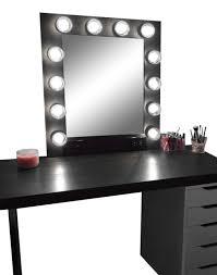 the hollywood vanity makeup mirror matte black