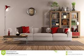 Modern Furniture For Living Room Modern Sofa In A Vintage Living Room Stock Images Image 34694694