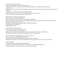 First Resume Template Library Aide Sample Job Examples Peppapp