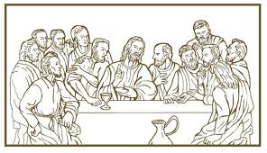 Small Picture Last Supper Coloring Page