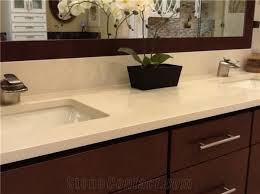 beige quartz stone artificial stone for bathroom countertop vanity tops with heating and scratch resistance