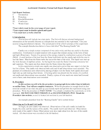 Sample Lab Report Chemistry Formal Example Current Askoverflow