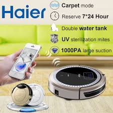 haier vacuum robot. 【haier vacuum cleaner 】t520 wifi intelligent control automatic mopping 280ml water tank/1000ml haier robot s
