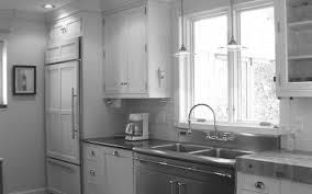 One Wall Kitchens Built In White Corner Pantry For One Wall Kitchen With Pendant