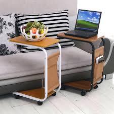 laptop table on wheels adjule portable sofa bed side table sofa laptop table