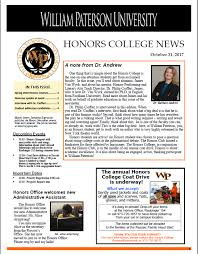 honors home william paterson university honors college newsletter 31 2017