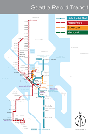 Seattle Transit Map Light Rail What Do You Think Of My Redesign Of Seattles Bus Light