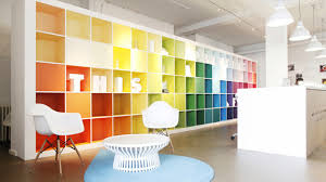 bright office. A Colourful And Bright Office