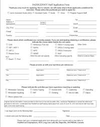 Generic Employment Application Form Generic Job Application Wisconsin Job Application