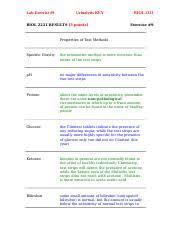 Clinitest Tablets Color Chart 9 Kidney Key Docx Lab Exercise 9 Urinalysis Key Biol 2231