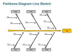 Fishbone Diagram Line Sketch