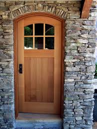 arched front doorTimber Frame Exterior Doors  New Energy Works