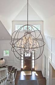 foyer chandelier ideas large transitional modern 2018 including incredible alluring bronze orb best on entryway stairway lighting fixtures images