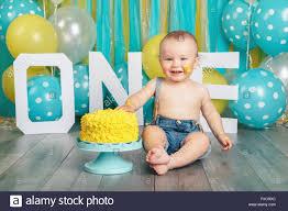 Portrait Of Cute Adorable Caucasian Baby Boy In Jeans Pants