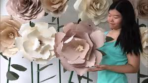 diy standing huge paper flowers by evermore flower