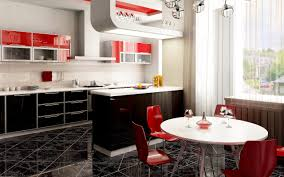 Red And Black Kitchen Red Kitchens