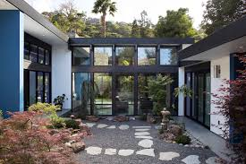 Modern houses architecture Small Modern Atrium House Architect Magazine Klopf Architecture Belmont Calif Single Family New Construction Residential Projects California Curbed Modern Atrium House Architect Magazine Klopf Architecture