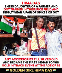 The former is the fastest woman in india and the. Dear Crush Hima Das Facebook
