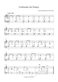 Here you have a start. Ferdinando The Donkey Pianotunes