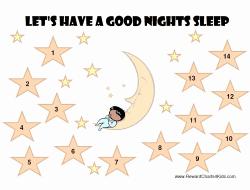 Free Printable Sleep Charts Free Printable Kids Sleep Chart Child Sleep Chart