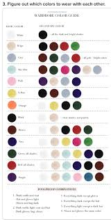 Chart Which Color To Wear Fashion Infographic Fashion