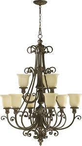 nine light classic bronze amber scavo glass up chandelier fx2p black whale lighting