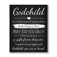 Amazon Godchild Gift Quote Chalkboard Inspired Print Mesmerizing Godparents Love Quote In English