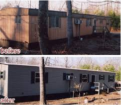 modular home exterior makeover. mobile home siding options before and after install modular exterior makeover