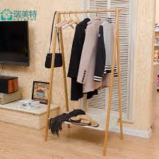 Folding Coat Rack Rui US Teou style bamboo floor bedroom multifunction simple folding 22