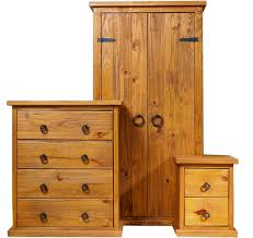Self Assembly Bedroom Furniture Bonsoni Countryhouse 1 X Two Drawer Bedside Cabinet 1 X Four