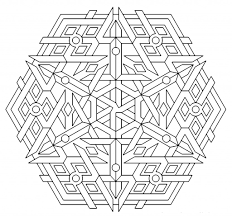 Small Picture Free Printable Geometric Coloring Pages For Kids Throughout