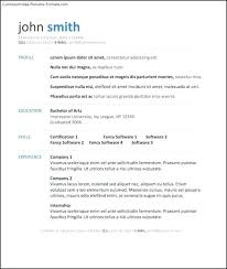 Format Resume Word Best Resume Templates Word Free Samples Examples