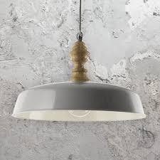 Scandinavian Lighting Uk Grey Wooden Pendant Light Cl 36686