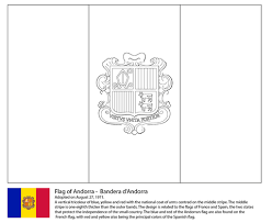 Small Picture Flag of Andorra coloring page Free Printable Coloring Pages