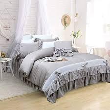 Softta Gray Luxury Princess Bedding Sets Girls Grey ... - Amazon.com