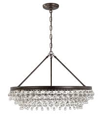 crystorama calypso 6 light crystal teardrop chrome chandelier in vibrant bronze finish bronze brown black