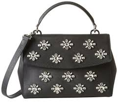 details about new michael kors ava small saffiano leather jewel satchel bag black