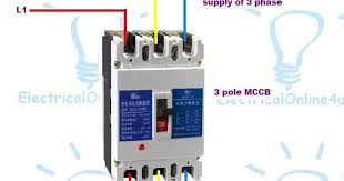pole pole mccb wiring diagrams and instillation