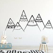 cute tribal mountains woodland nursery