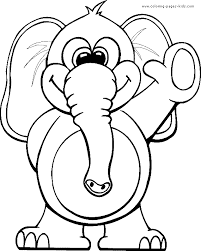 Small Picture Elephant waving hello color page Free printable coloring sheets