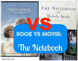 Book Vs Movie Venn Diagram Book Vs Movie The Notebook